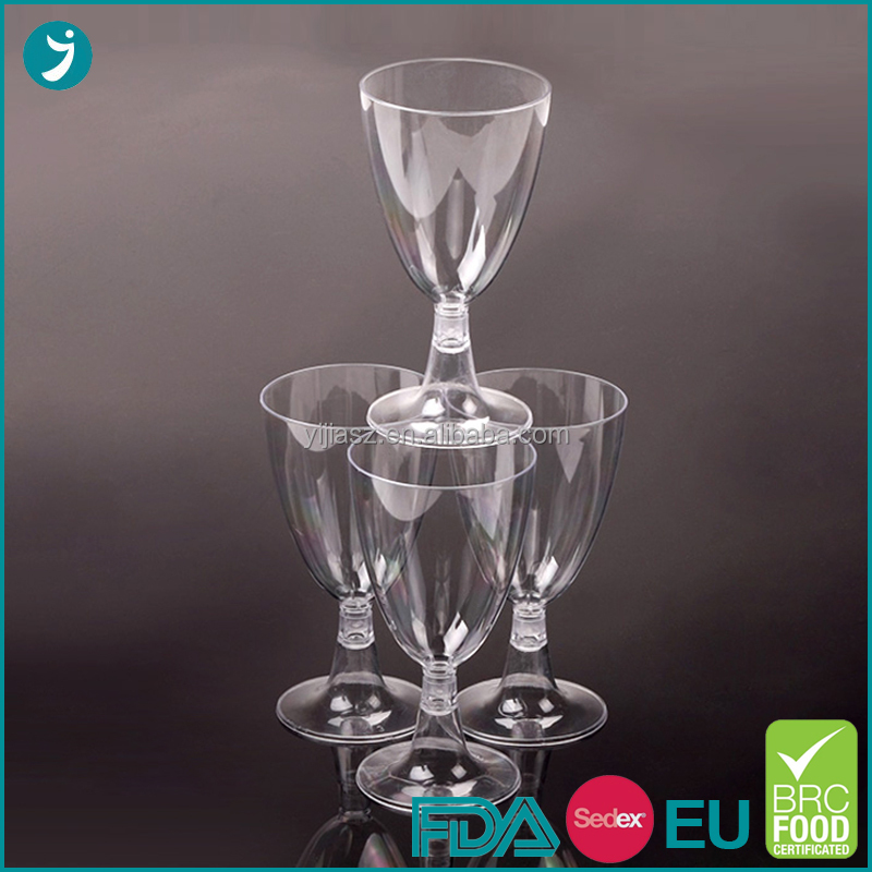 Factory direct supply ps plastic wine glass disposable with low price