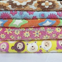 2013 alibaba top 10 Fleece Blanket 100% Polyester Fabric for egg shell cushions