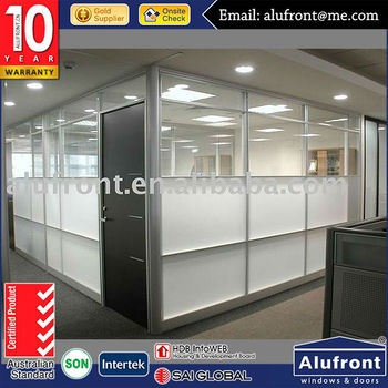 Australia standard aluminum double glass office door for commercial building