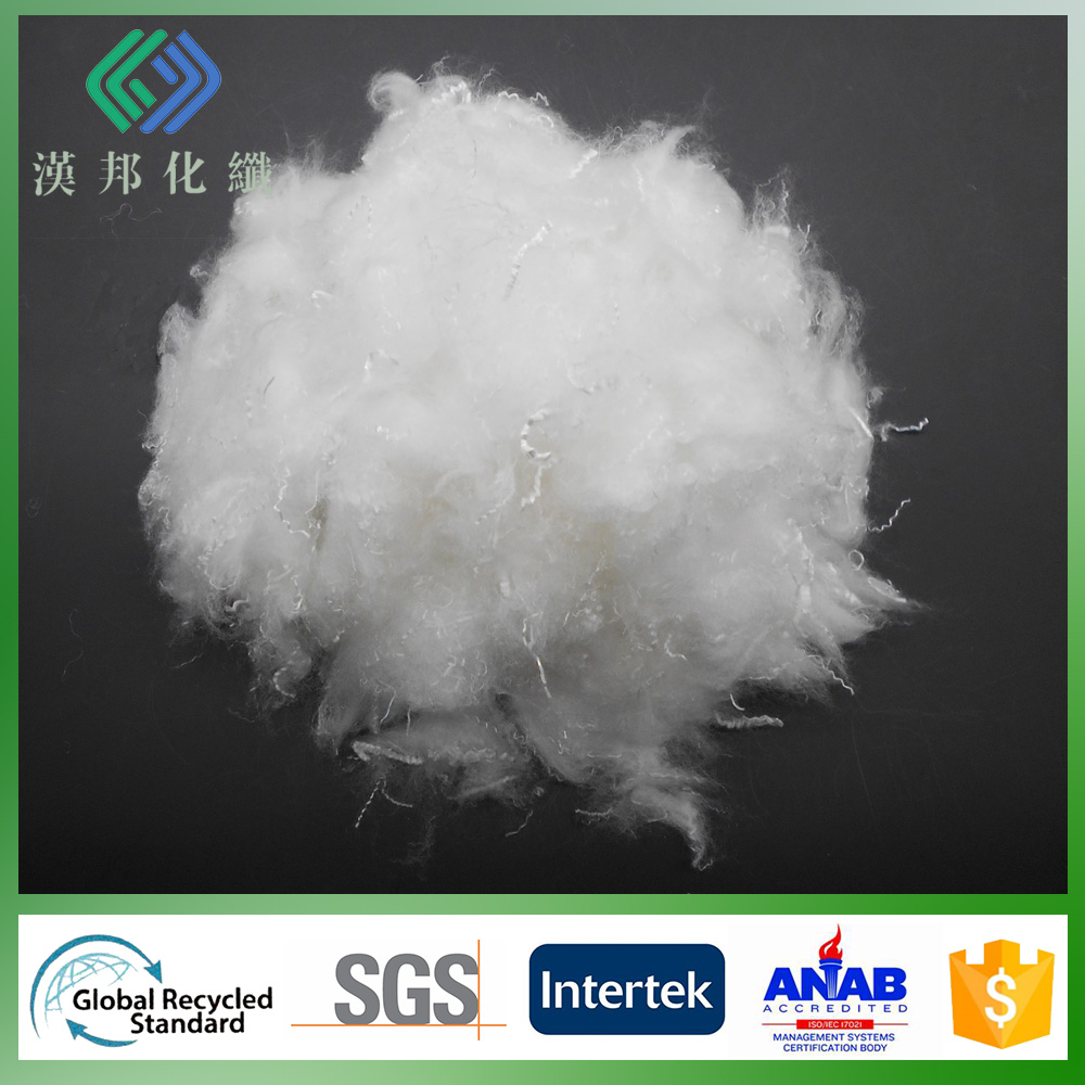 1.2Dx32mm solid silicon pet bottles recycle polyester fiber