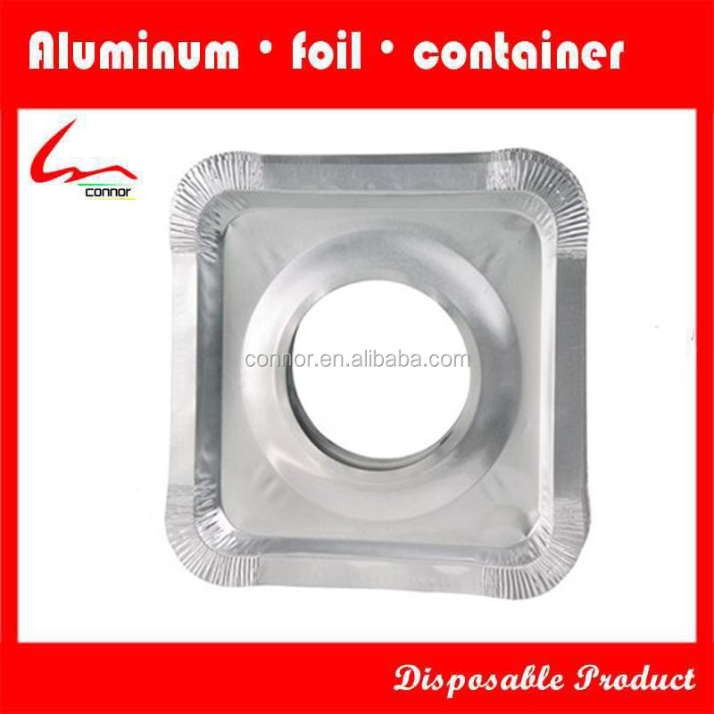 Household Kitchen Used Disposable Square Aluminum Foil Gas Stove Protector /Liner /Mat