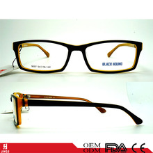 optical acetate eyewear of high quality acetate optics frame double color
