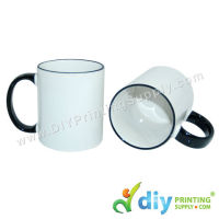 Colour Mug (Outer Black) for Mug Printing Business