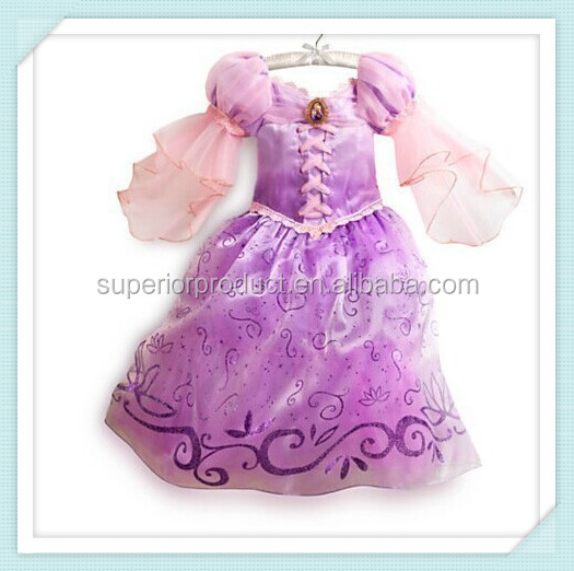 Wholesale high quality children purple sofia princess dress factory for girls' dress new style children fancy dress