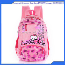 Fashion Cute Small Kitty Printing Girls School Backpack Cartoon High Quality Children Kids Backpack for Primary School
