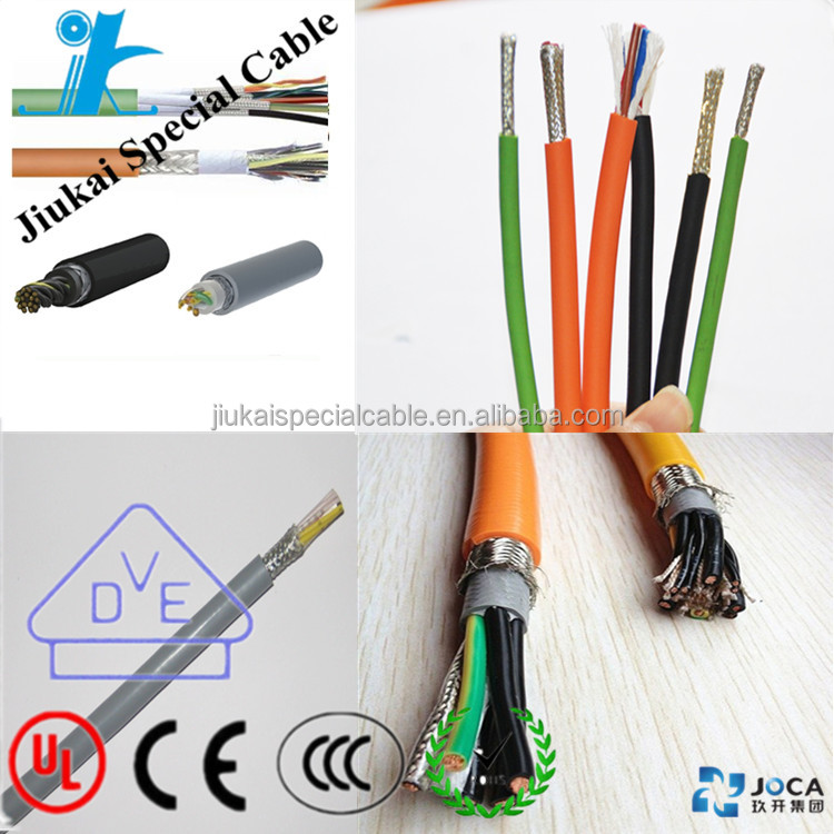 High quality TRVVP flexible drag cable chain ,electric braided cable robotic cable