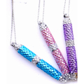 Bling fashion diamond crystal pen with necklace or key chain for girl promotional gift