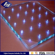 Wholesale Price Building Glass Manufacturer Customized Flashing Transparent LED Glass Wall