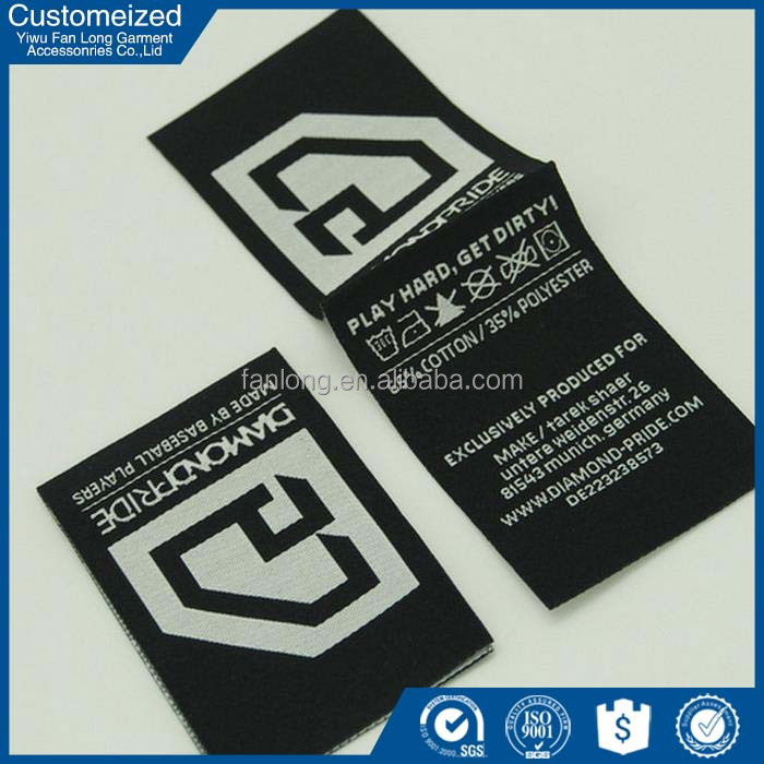 Wholesale custom logo woven label clothing label