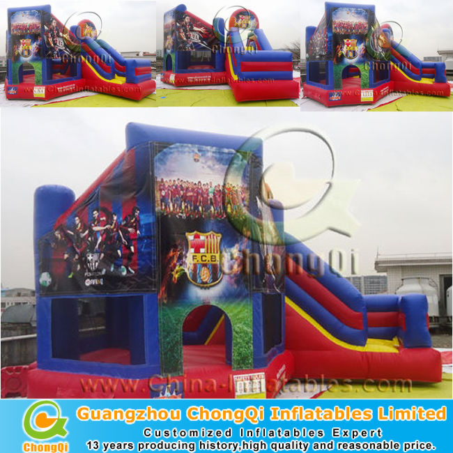 batman theme inflatable slide jumper combo bouncer for sale
