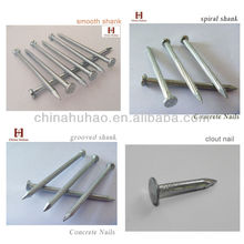Concrete nails with electric galvanizing