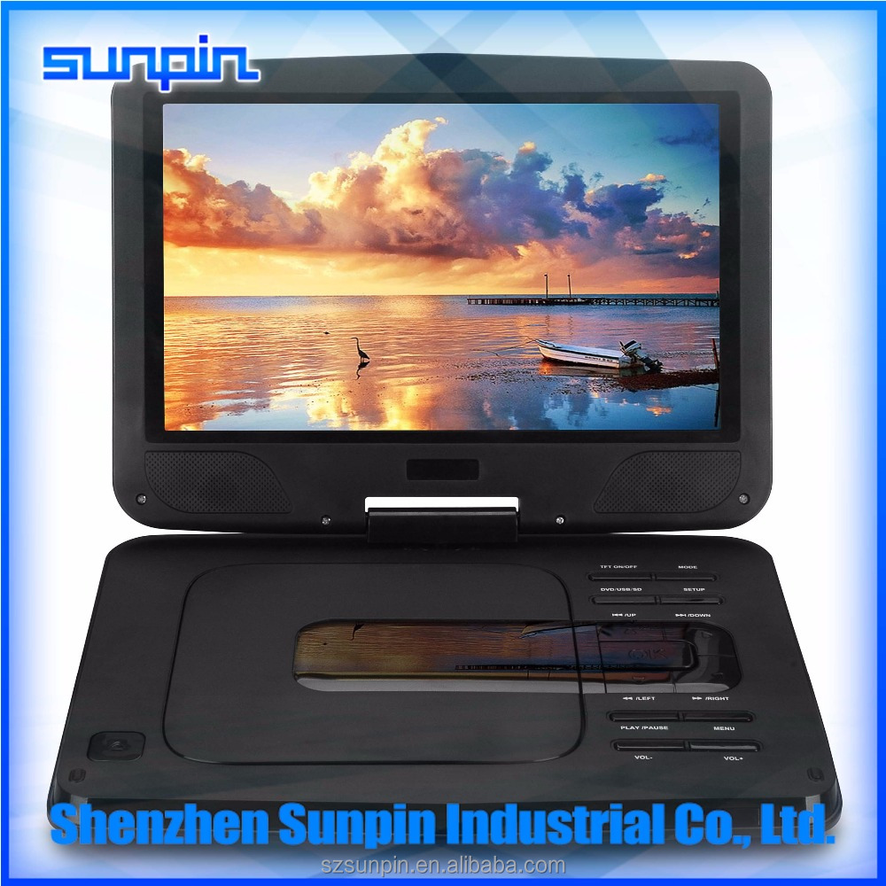 10 inches 3D portable dvd player with tv tuner PDVD PEVD