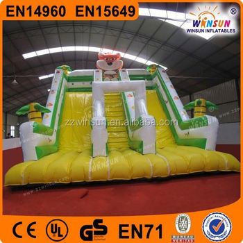 Commercial grade funny WSS-022 Rain Forest inflatable slide for kids