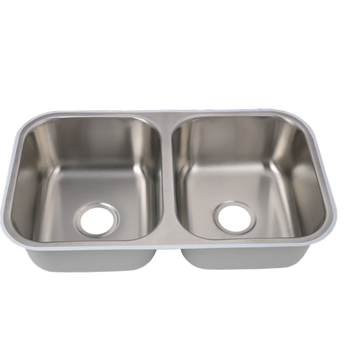 double bowl stainless steel undermount sink