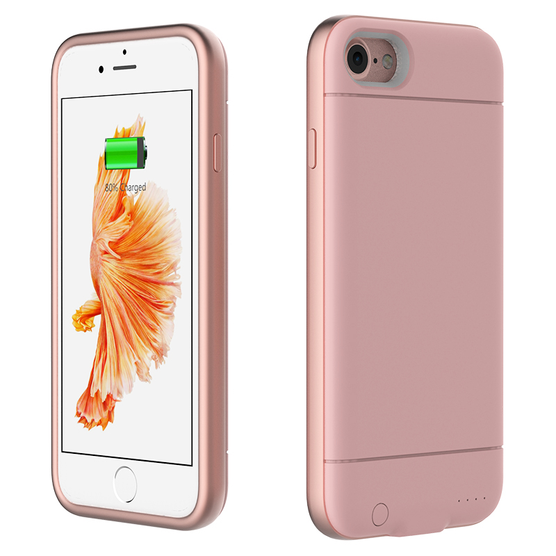 Polymer cobalt lithium battery sync-through technology 2400mAh rechargeable battery case for iphone 6/6s/7