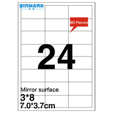 SINMARK 7.0*3.7cm Mirror surface self-adhesive aluminum sticker