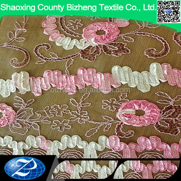 factory price african embroidery tulle lace guangzhou net lace fabric