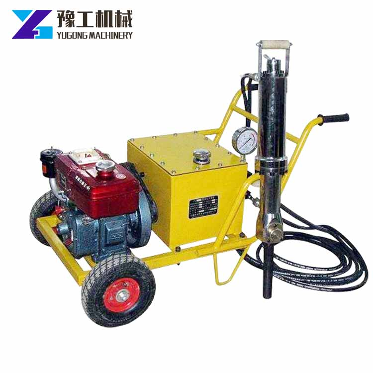 <strong>Holing</strong> depth 900mm electric and diesel power hydraulic rock splitter price for sale