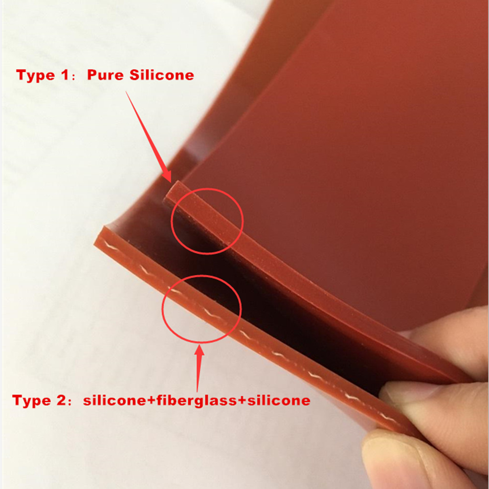 0.3 mm Sticky Silicone GEL Cloth Adhesive High Temperature Heat Resistant Silicon Sealant Mat Rubber Pad Sheet Roll