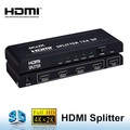 HDMI Splitter 1x4 Powered 4K 2K 1080P V1.4 Video Converters Connectors 4 Ports Adapters with Full Ultra HD & 3D