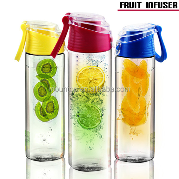 Cheap promotion gift bottle tritan joyshaker fruit infuser water bottle 700ml plastic new