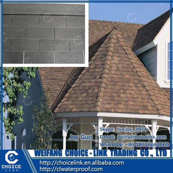 residential roof tile colorful laminated fiberglass asphalt shingle