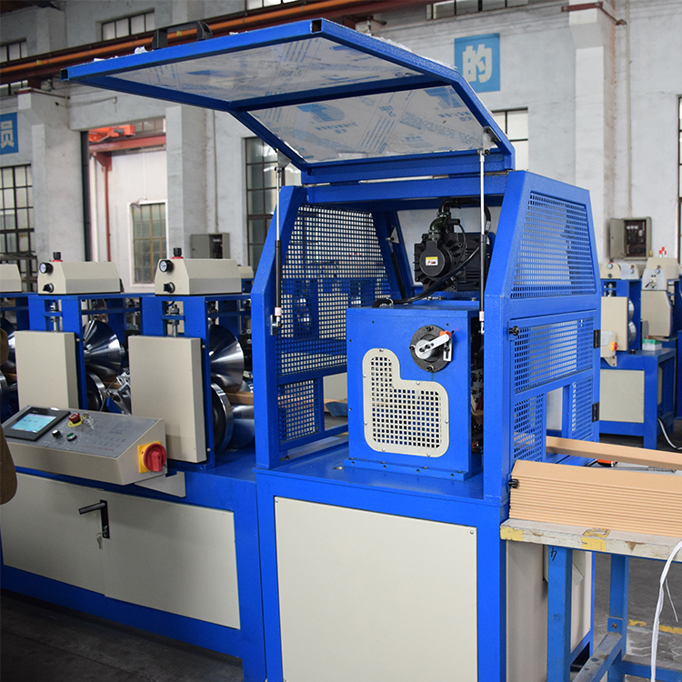 Multilayer gluing paper edge protector production line