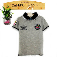 Baby boy grey printed 100%orgenic cotton polo t shirt OEM service is available