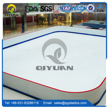 HDPE plastic panel roller skating court flooring manufacture for hockey dasher board