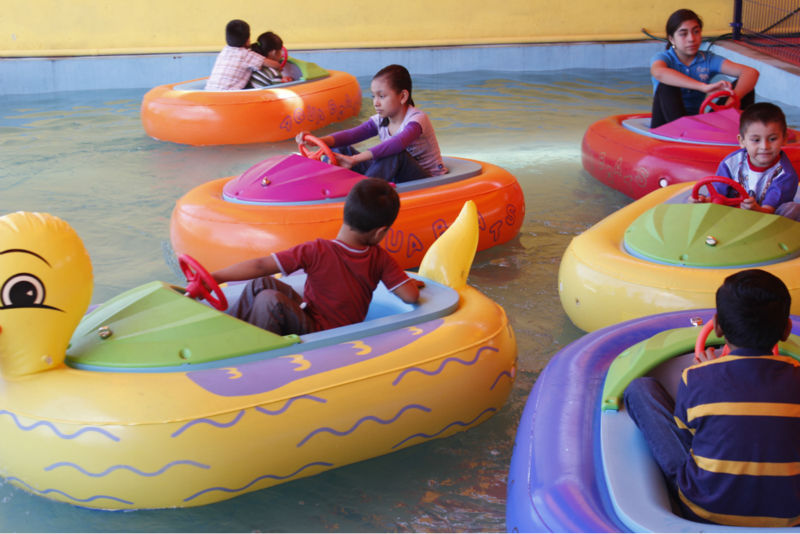 World Leading Inflatables AquaOrb Inflatable Kids Bumper Boats or Animal bumper boat with Mechanical or Magnetic Timer