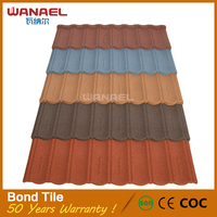 China Famous Brand Wanael Bond Ecology Friendly Stone Coated Metal Roofing advanced product of Asphalt Roofing Shingles