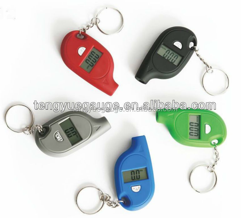Portable Mini LCD Digital Tire Tyre Air Pressure Gauge Tester Keychain design