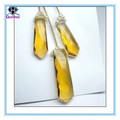 Tie-shaped golden yellow cubic zirconia necklace