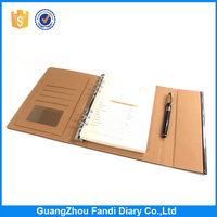 Personalized notebook and diary with loose leaf pages