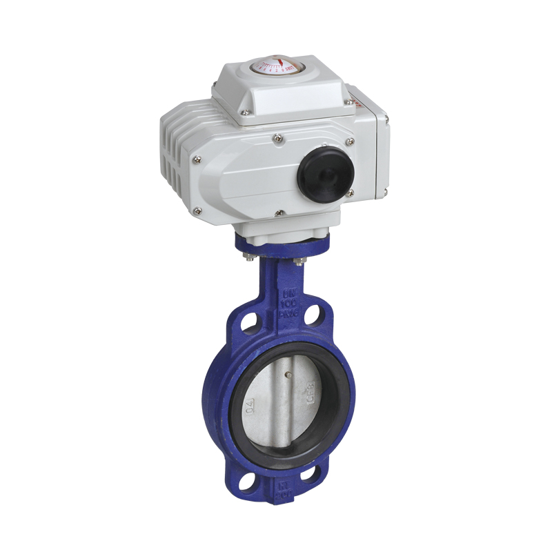 Wafer Type Electric Butterfly Valves With Electical Actuator