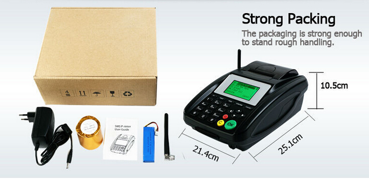 Black color and Stock status GSM GPRS thermal Printer for Restaurant Online Orders, Point of Sale Ticket Printing