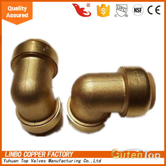 LB-GutenTop adult online shop lead free brass push-fit fitting coupling with 90-Degree Elbow