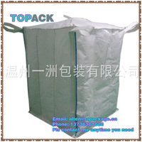 1 ton/1.5 ton cement bag jumbo size with cross loops and spouts
