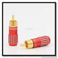 Gold Plated Audio Cable RCA Plug Speaker Cable Connectors Treminals