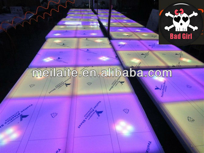32 Ch 720 pcs color change led dance floor with 10mm RGB led