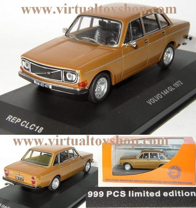 1972 Volvo 144 ..... GOLD Toy Car