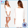 Wholesale 2016 yihao new design fashion dress top selling products women apparel white fashion dress