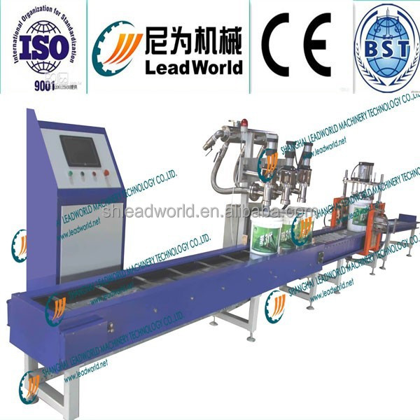 Double Nozzles Paint Weigh Filling Machine Plastic Buckets Capping machine