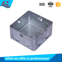 Factory price galvanized steel elctrical 3x3 gi switch box cable pipe plug knockout metal junction box
