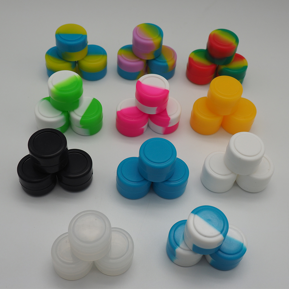 The smallest one 2 ml silicone container, silicone jar silicone wax bin