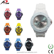 Chinese wholesale colorful cheap silicone rubber strap watch