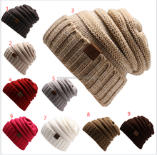 custom logo label Soft Lined Unisex slouch winter beanie hats in stock