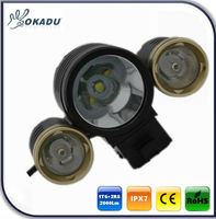 Hot new products for 2013 Super bright 2000lumen 3 CREE XML T6 and 2 R5 LED lights for bikes