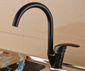 FLG newest model high quality black water saving kitchen faucet