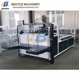 Carton box semi-automatic folding gluing Corrugated paper glue machine